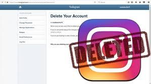come eliminare del tutto un account Instagram