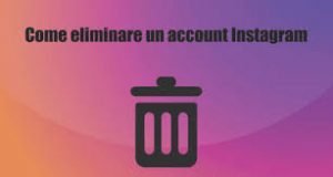come si fa ad eliminare un account Instagram 1
